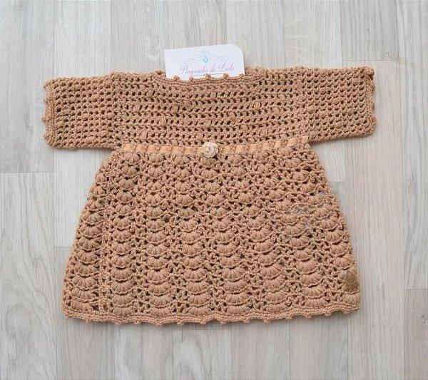 Vestido Crochê - Feito à mão - Lã Merino