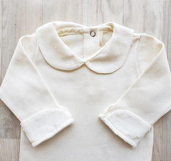 Body Maternidade Gola Pólo - Off white