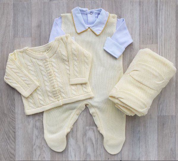 Saída Maternidade Tricot - Luigi amarelo - Sem body