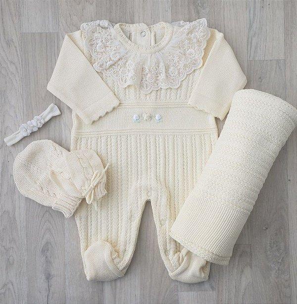 Saída Maternidade Tricot - Mariana Amarelo