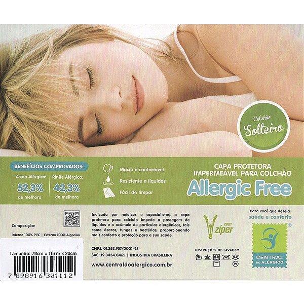 Capa Impermeável para Colchão de Solteiro Allergic Free