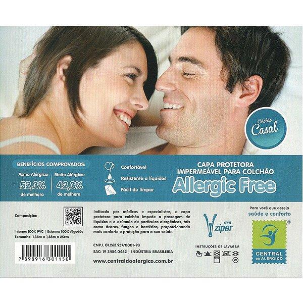Capa Impermeável e Anti Ácaros para Colchão de Casal Allergic Free