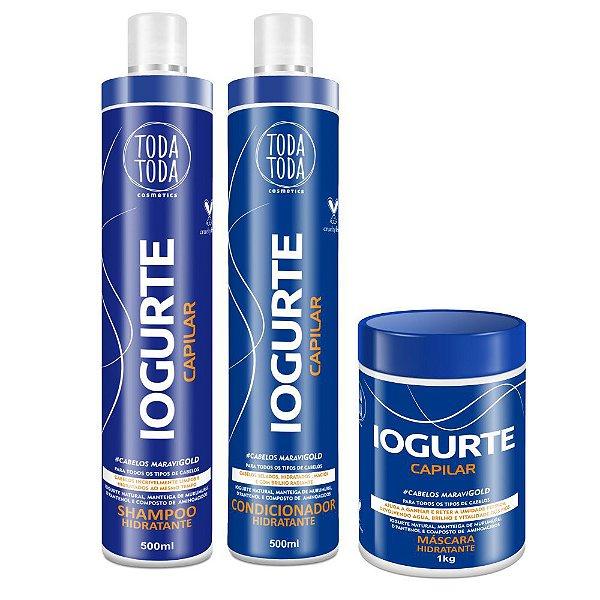 Kit Iogurte Shampoo + Condicionador + Máscara 1kg