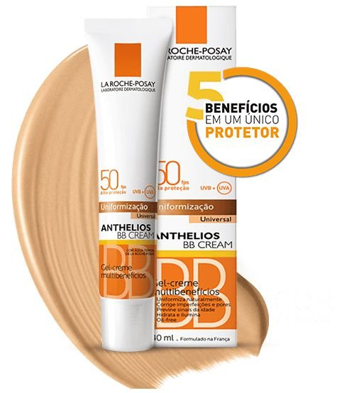 Protetor Solar Anthelios BB Cream FPS 50 com Cor 40g