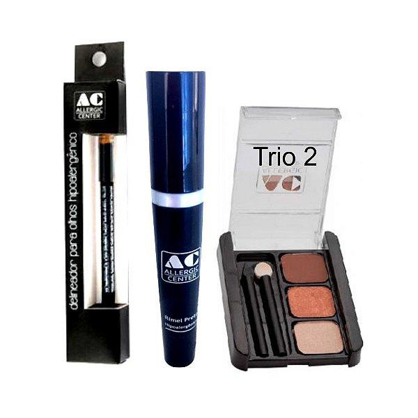 Kit de Maquiagem Hipoalergênica para Olhos Básico Cor 2