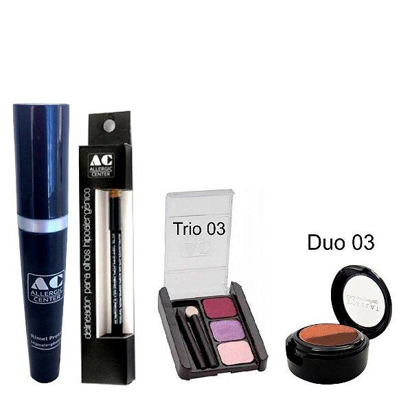 Kit de Maquiagem Hipoalergênica para Olhos Completo Cor 3 - 03
