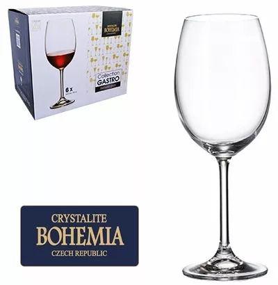 Taças Vinho  Bohemia Gastro Cristal c/ Titânio  580 ml - Cx com 6 pç