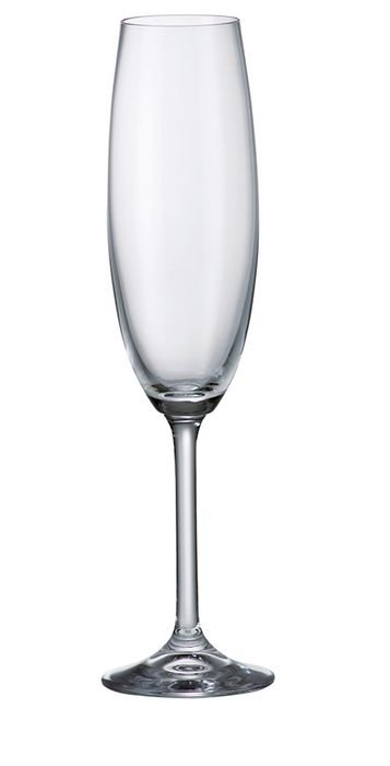 Taça Champanhe  Bohemia Gastro   Cristalc/titânio 220 ml cx c/6 pç