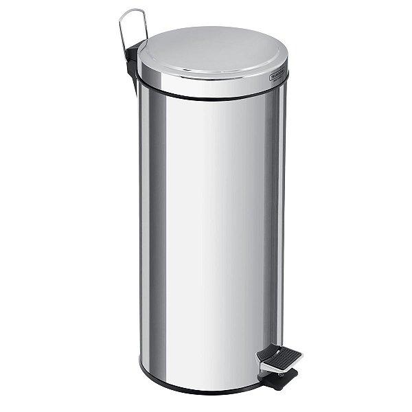 LIXEIRA INOX C/PEDAL E BALDE 30 LTS- Brinox