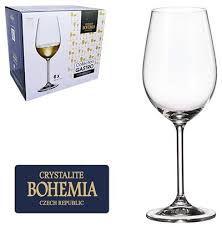 Taça Vinho  Bohemia Gastro   Cristalc/titânio 350 ml cx c/6 pç