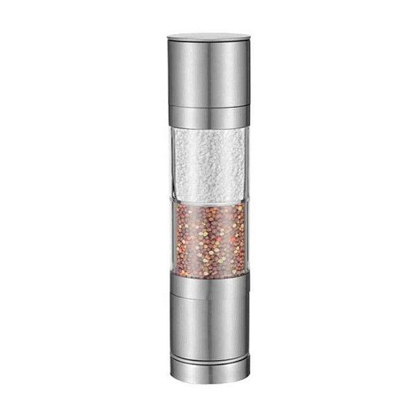 Moedor de Sal e Pimenta UniHome 2 em 1 em Vidro e Metal UD170115