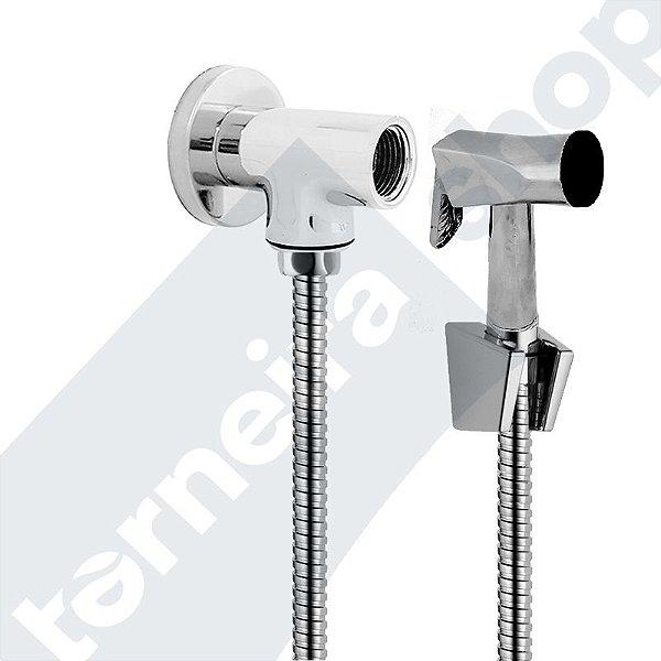 Kit Desviador Para Duchas e Chuveiros C/ Flexível 1,80 M, Gatilho Metal e Suporte