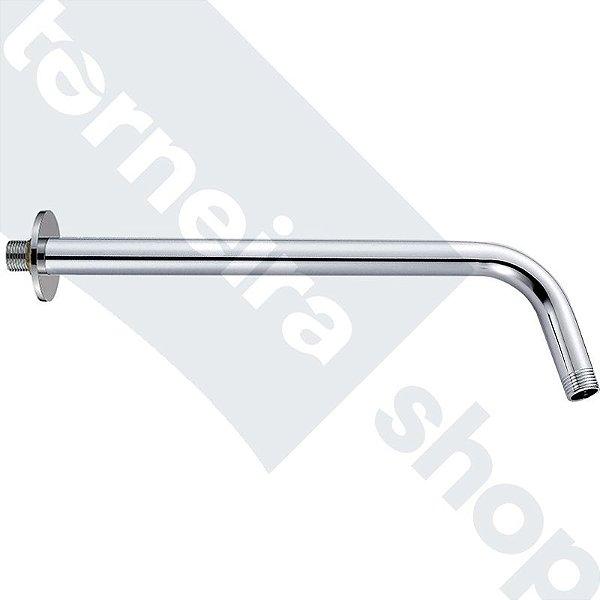 Braço Para Ducha / Chuveiro em Aço Inox Cromado 1/2'' Comprimento 35 cm