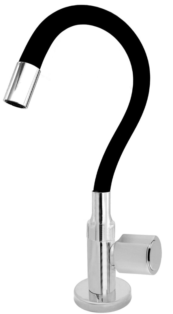 Torneira Cozinha Mesa Flexível Color Preto 1/4 de Volta C40