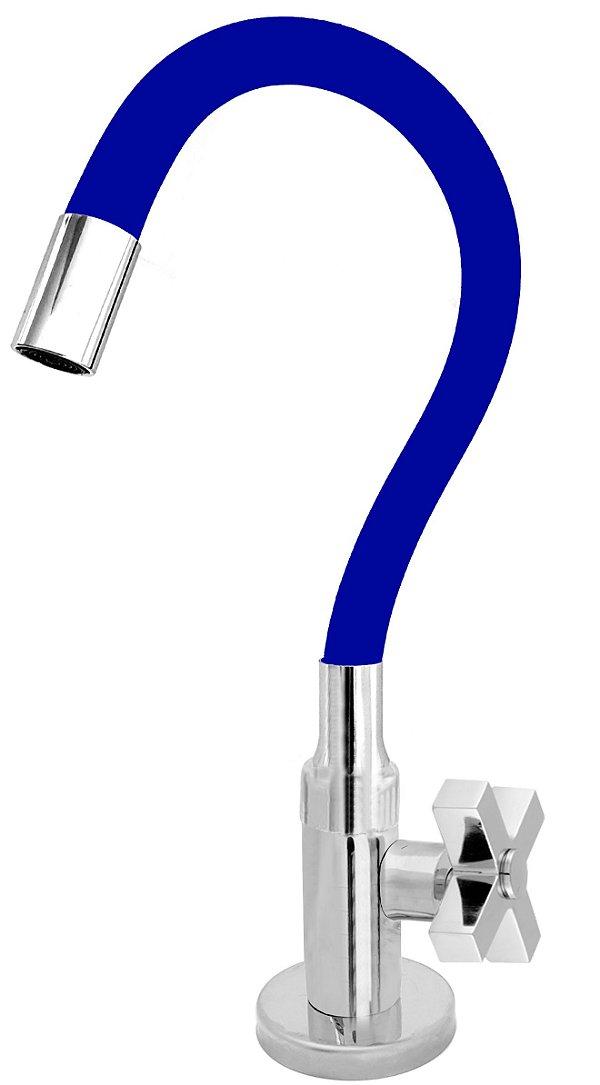 Torneira Cozinha Mesa Flexível Color Azul 1/4 de Volta C44