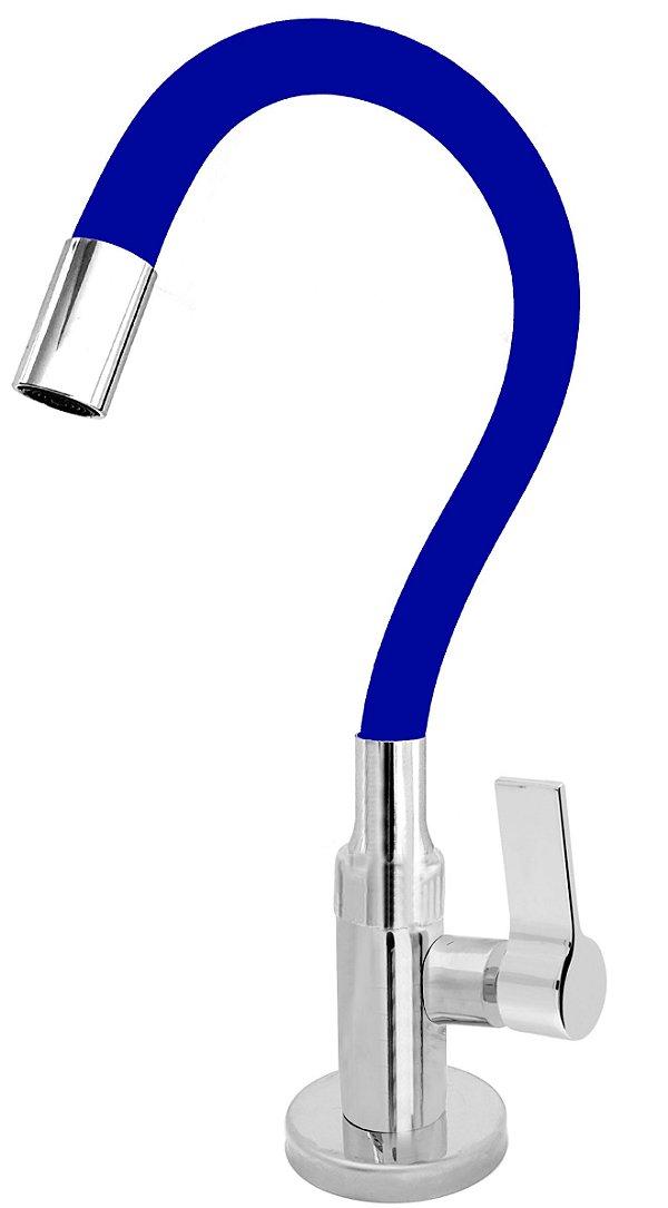 Torneira Cozinha Mesa Flexível Color Azul 1/4 de Volta C77