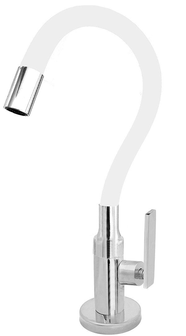 Torneira Cozinha Mesa Flexível Color Branco 1/4 de Volta C79