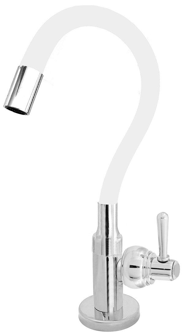 Torneira Cozinha Mesa Flexível Color Branco 1/4 de Volta C80