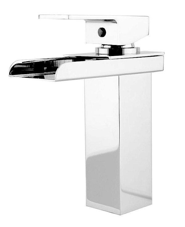 Misturador Monocomando Calha Design Quadrado Baixo Para Lavatório