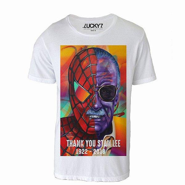 287da706e9 Camiseta Gola Básica - Thank You Stan Lee - Lucky Seven