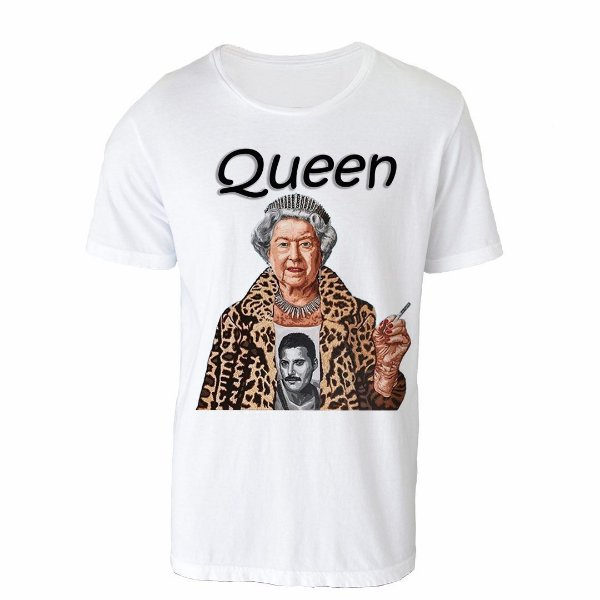 Camiseta Gola Básica - Queen Be.