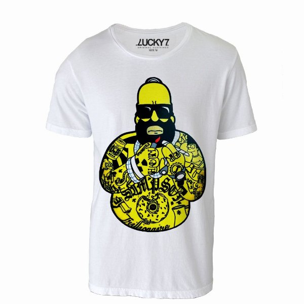 Camiseta Lucky Seven - Homer Gangster