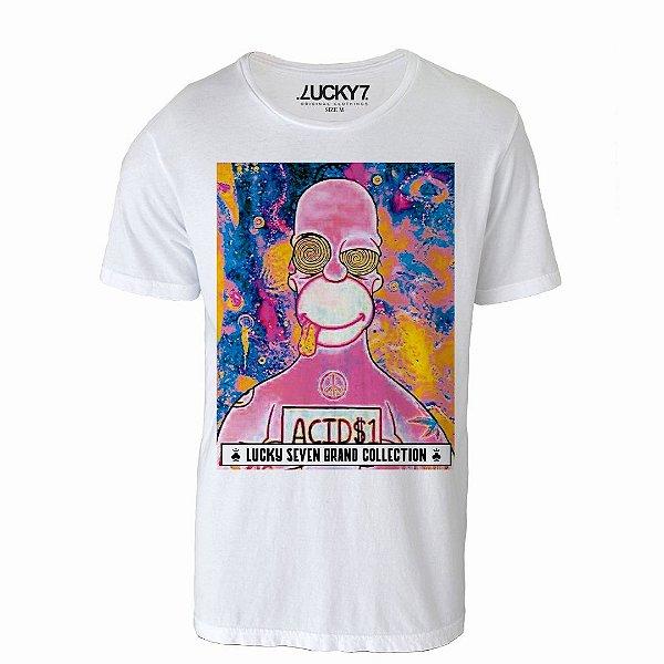 Camiseta Gola Básica - Homer Crazy