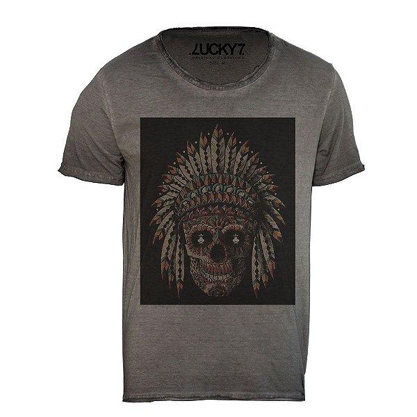 Camiseta Relax - Indian Skull