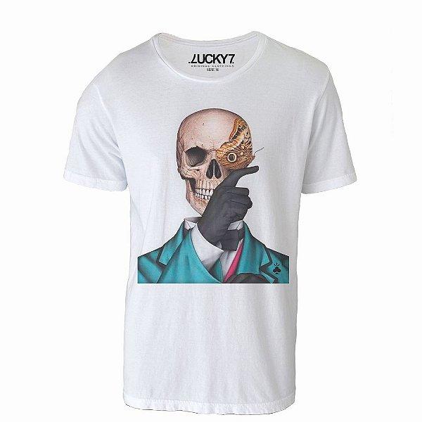 Camiseta Lucky Seven - Skull Butterfly