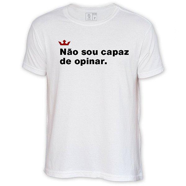 Camiseta Resenha - Não sou capaz de opinar