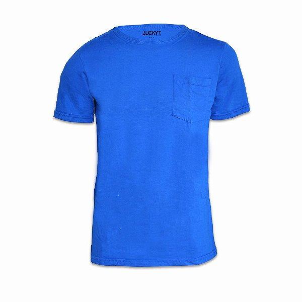 Camiseta com bolso - Azul