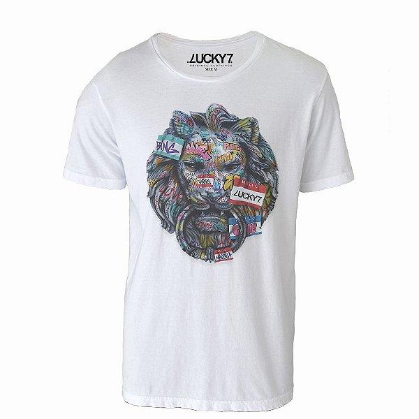 Camiseta Lucky Seven - Graffiti Lion