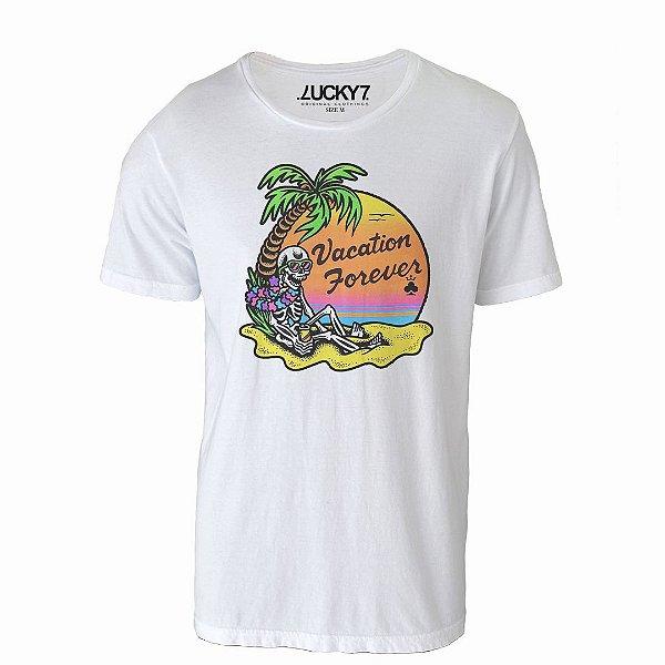 Camiseta Lucky Seven - Skull on Vacation
