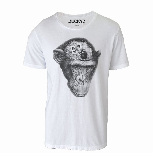 Camiseta Lucky Seven -  Brain Monkey