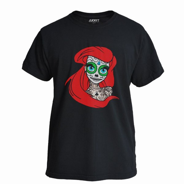 Camiseta Lucky Seven Preta - Mermaid