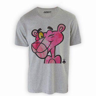 Camiseta - Pantera Cor de Rosa LIQUIDAÇÃO