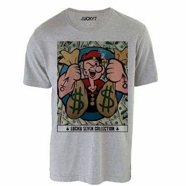 Camiseta - Popeye Crazy  LIQUIDAÇÃO