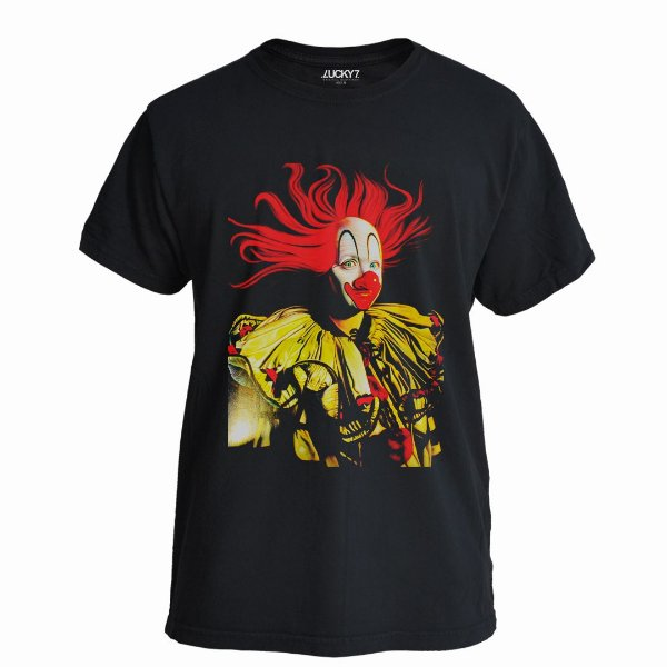 Camiseta Lucky Seven Preta - Scary Clown