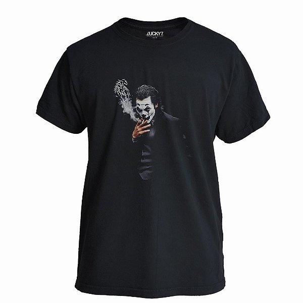 Camiseta Lucky Seven Preta - Joker Smoking