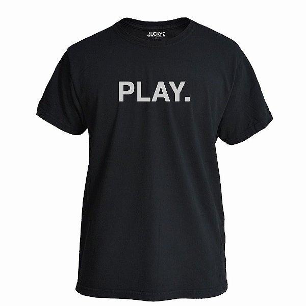 Camiseta Lucky Seven Preta - Play