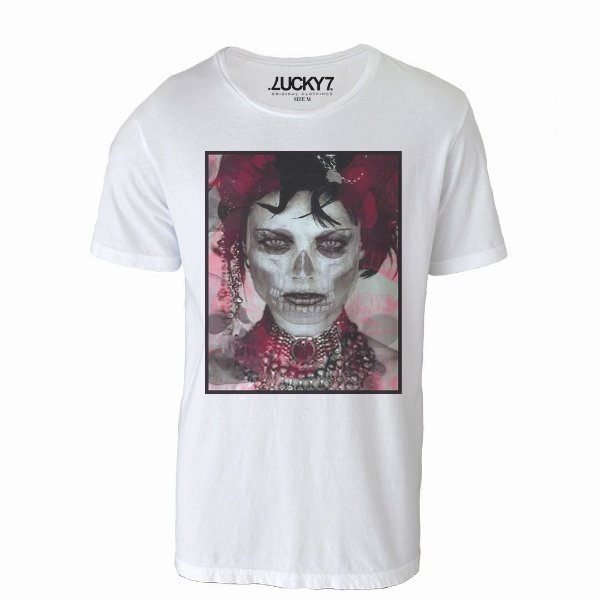 Camiseta Lucky Seven - Skull Woman