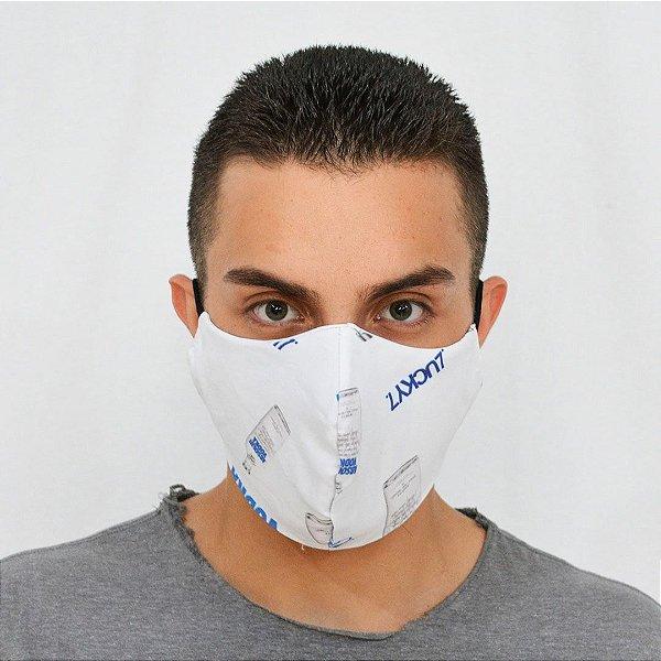 Máscara de Proteção 100% Algodão - Estampa Vodka