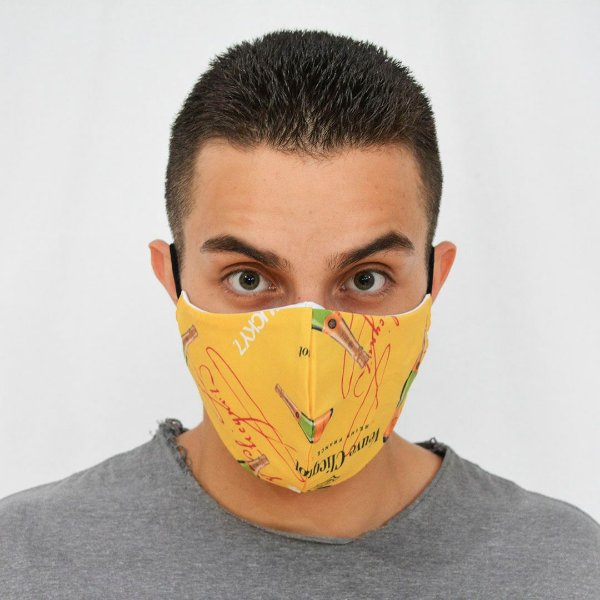 Máscara de Proteção Algodão - Estampada Champa