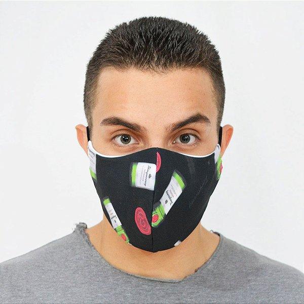 Máscara de Proteção Algodão - Estampa Black Gin