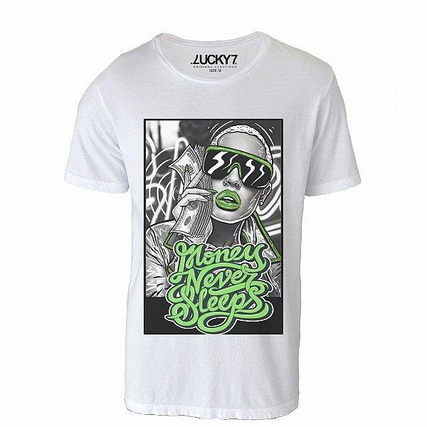 Camiseta Lucky Seven - Money never sleep