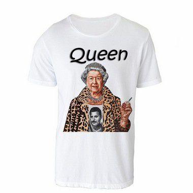 Camiseta Gola Básica - Queen Be. LIQUIDAÇÃO