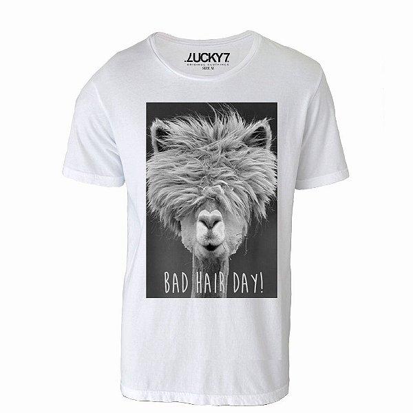 Camiseta Gola Básica - Bad Hair Day