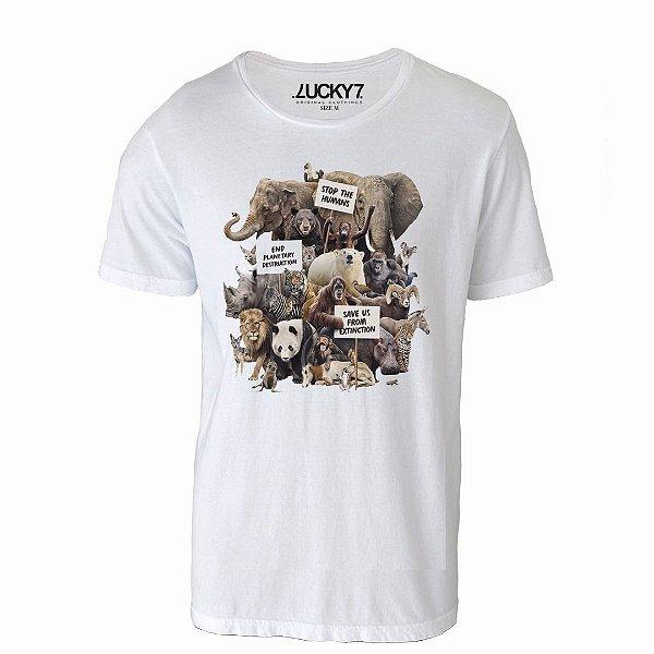 Camiseta Gola Básica - Save Us
