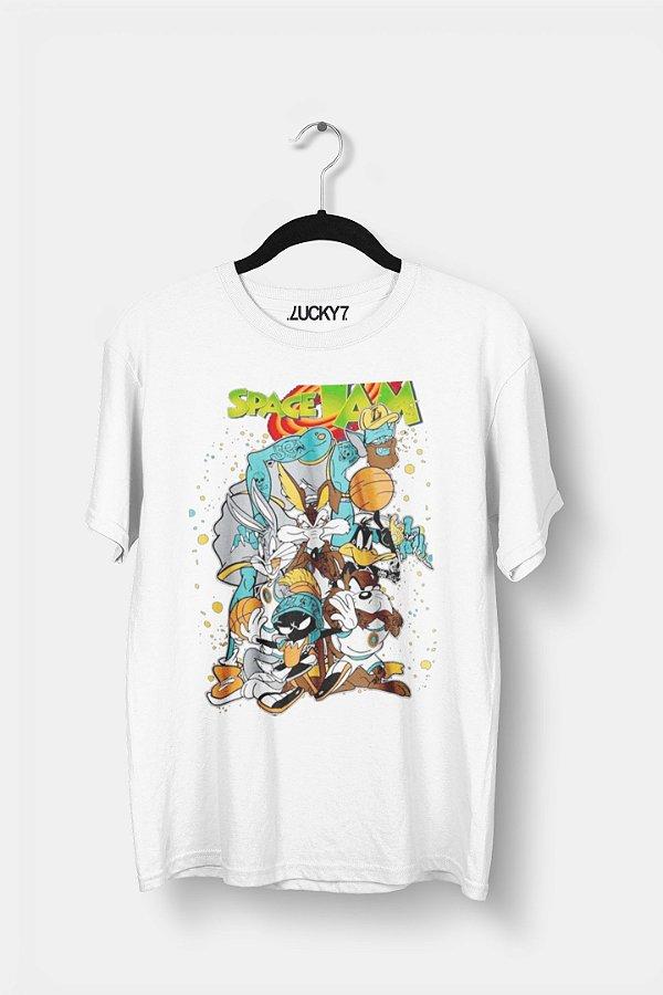 Camiseta Gola Básica - Space Jam