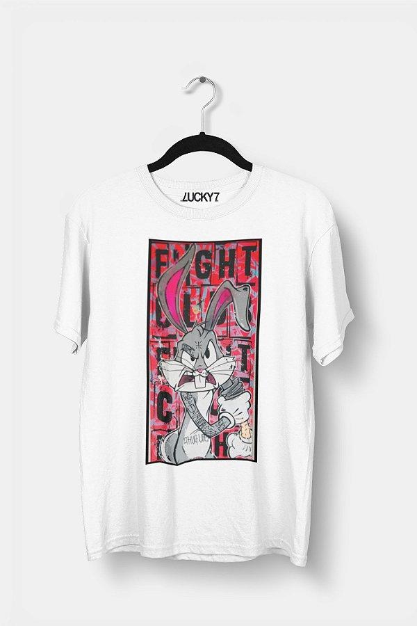 Camiseta Gola Básica - Bunny Fighter